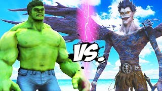 THE HULK VS DEATH NOTE (RYUK) - EPIC BATTLE