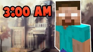 Do NOT Play Minecraft Pocket Edition in Herobrine's Mansion at 3:00 AM!!!