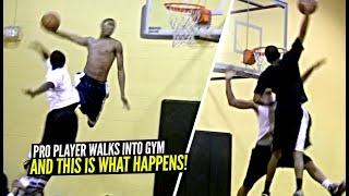 Pro Player Walks Into Local Gym & Proceeds To DESTROY EVERYONE!