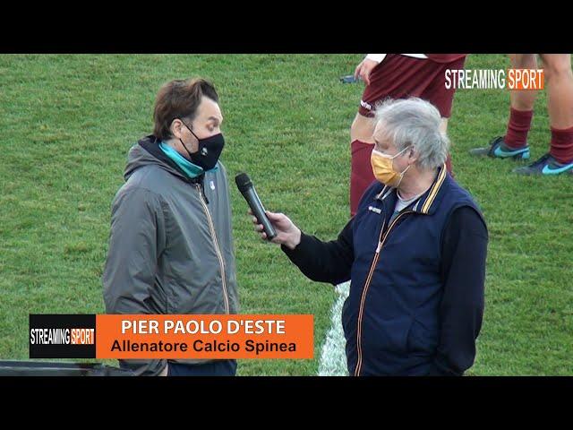 Intervista a Pier Paolo D'Este allenatore del Calcio Spinea Domenica 2 maggio 2021
