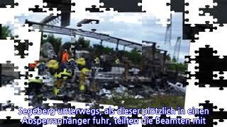 Gasflaschen explodiert: A 20 nach Unfall gesperrt