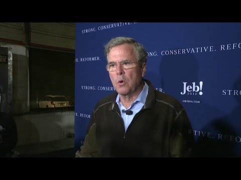 "Jeb Bush admires Michigan governor for ""stepping up..."