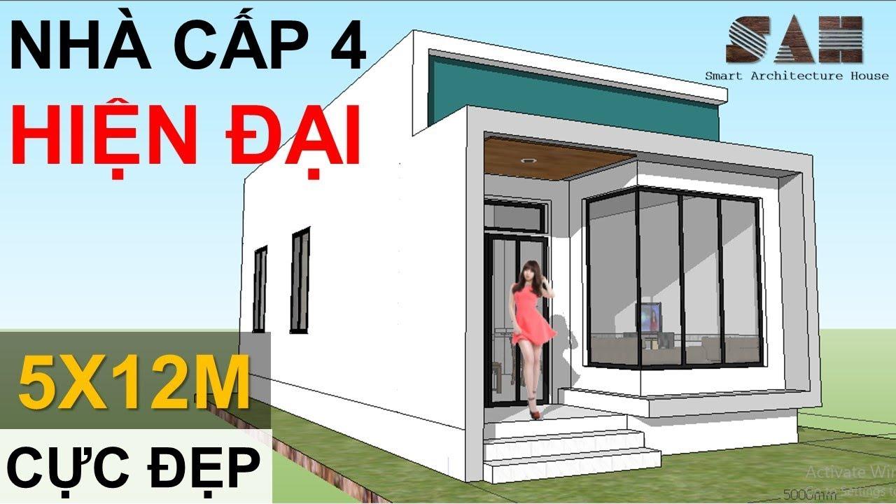 Modern Small House – NHÀ CẤP 4 Hiện Đại 5x12m Đơn giản, simple house |#SAH
