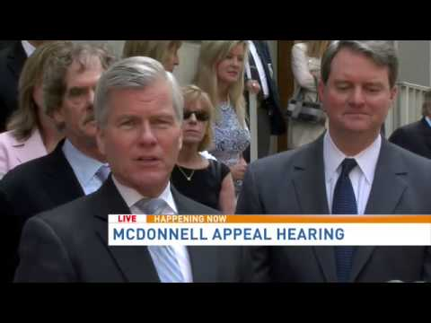 Former Va. Gov. Bob McDonnell press conference following appeal hearing