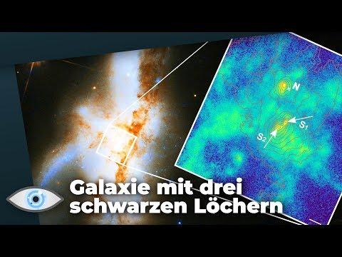 Erstmals entdeckt: Drei supermassereiche Schwarze Löcher in einer Galaxie!