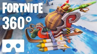 [360 VR Video] Fortnite 360° Virtual Reality Xmas Season 7 Google Cardboard