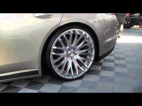 DUBSandTIRES.com Porsche Panamera on 22'' TIS concave silver finish