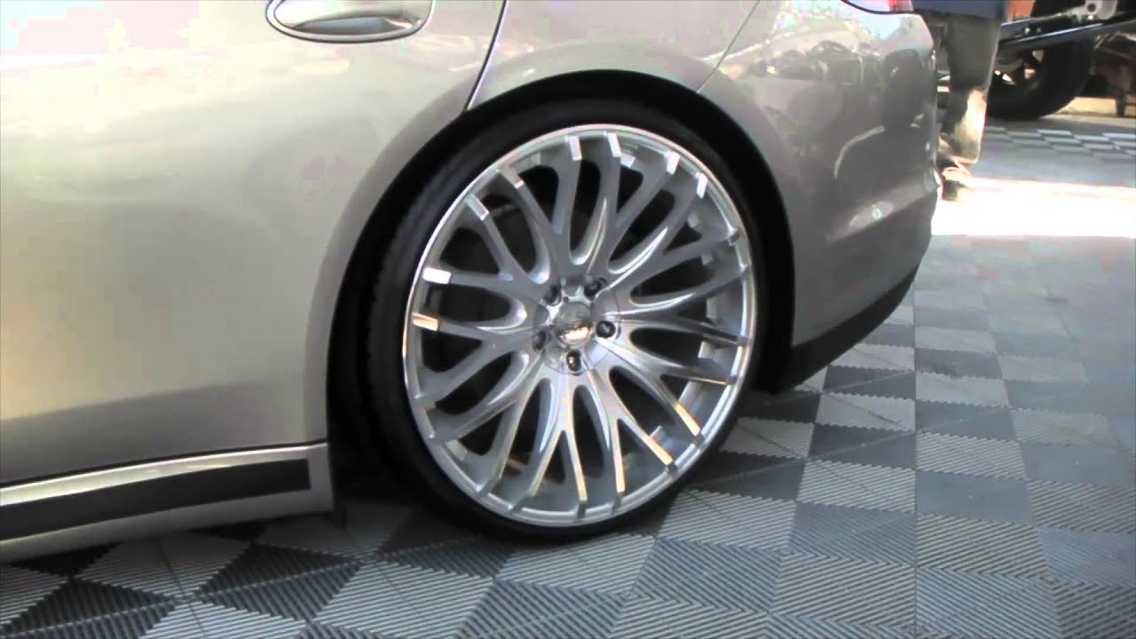 Bmw Rims 22 Inch >> DUBSandTIRES.com Porsche Panamera on 22'' TIS concave silver finish - YouTube