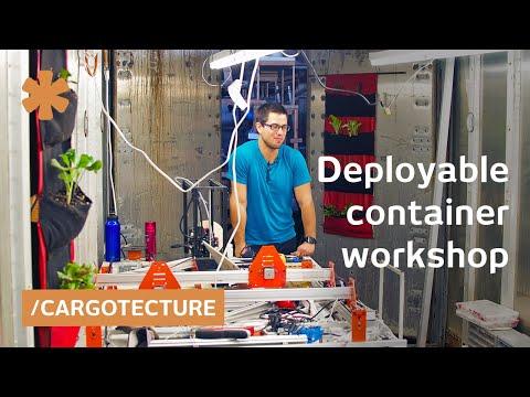 CNC machining, Arduino sensor gardening from Oakland shipping container