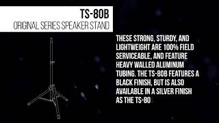 Ultimate Support Product Outlines - TS-80B Original Series Speaker Stand