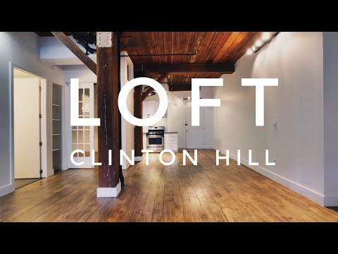 Cool Loft Apartment in Prime Clinton Hill! Video Tour NYC Br
