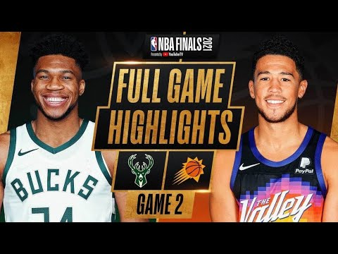 N.B.A. Finals: Booker Leads Suns Over Bucks in Game 2
