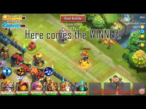 Castle Clash Evolved PK Vs SK,DD,Orky(ONE On ONE)