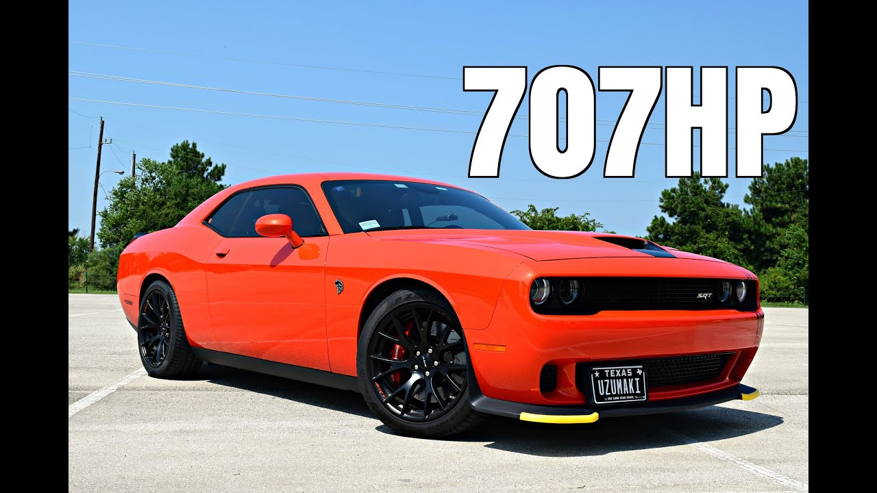 Charger Vs Challenger >> 2016 Dodge Challenger Hellcat Driving Review - 6 Spd Manual - YouTube