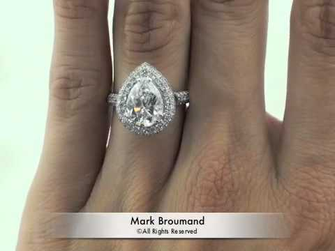 425ct Pear Shape Diamond Engagement Anniversary Ring