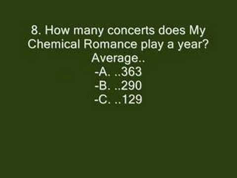My Chemical Romance 2008 QUIZ II