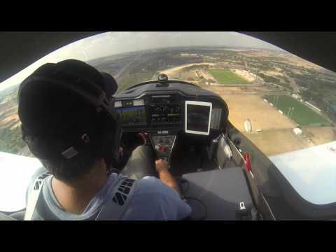 ראובן קובנט-תרגול נחיתה במנחת ראשון במטוס TL ULTRALIGHT STING S4