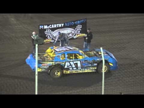 Lakeside USRA  A Mods Stocks Nationals 10 2 15 Mains - dirt track racing video image