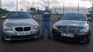 BMW E60 PRE LCI vs LCI (Facelift vs Pre Facelift 5 Series) Test Drive in The Bmw Lci E60