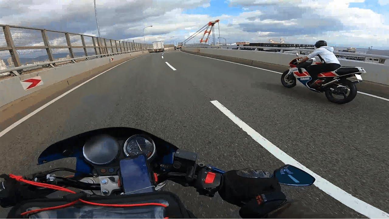 【Exhaust Sound】HONDA Hornet250 Kobe,Japan 【LCI Tianium slip-on muffler】
