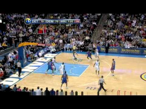 Detroit Pistons vs Denver Nuggets (Allen Iverson returns to Denver) 01/09/09