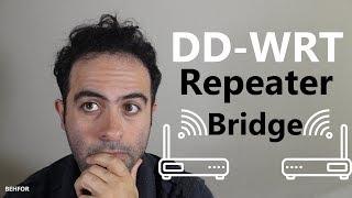How to setup DD-WRT Repeater Bridge (Extend your Wifi) [PLEASE READ THE DESCRIPTION]