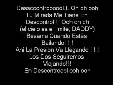 Daddy Yankee Descontrol LETRA