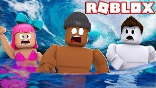 NADAR OU MORRER!! -Fuga de inundação Roblox 2