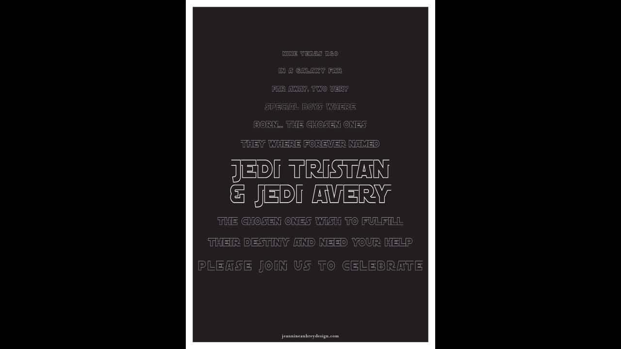 Star Wars Evite