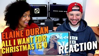 Elaine Duran - All I Want For Christmas Is You | 5th day of Semi Finals Battle | REACTION