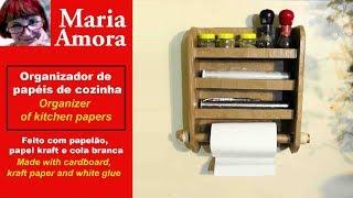 ORGANIZADOR DE COZINHA - DE PAPELÃO