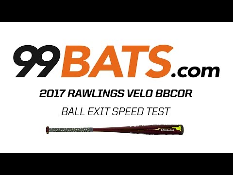 2017 Rawlings VELO BBCOR  Ball Exit Speed Test