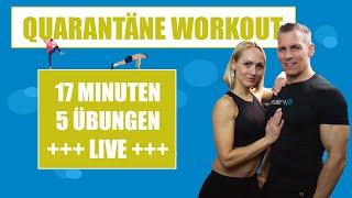 Quarantane Workout 1 17 Minuten Live Training Fur Zu Hause Youtube