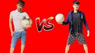 PHD | Thử Thách Đá Bóng | Chấp 5 Quả | Football Challenge