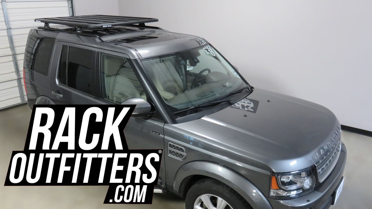 Land Rover LR4 With Rhino Rack Pioneer Platform RLT600 Roof Rack Cargo  System