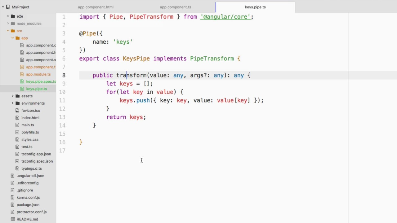 Creating and Using Custom Pipes in an Angular Web Application