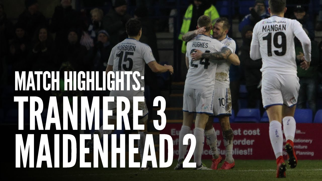 Match Highlights   Tranmere Rovers 3 - 2 Maidenhead - YouTube