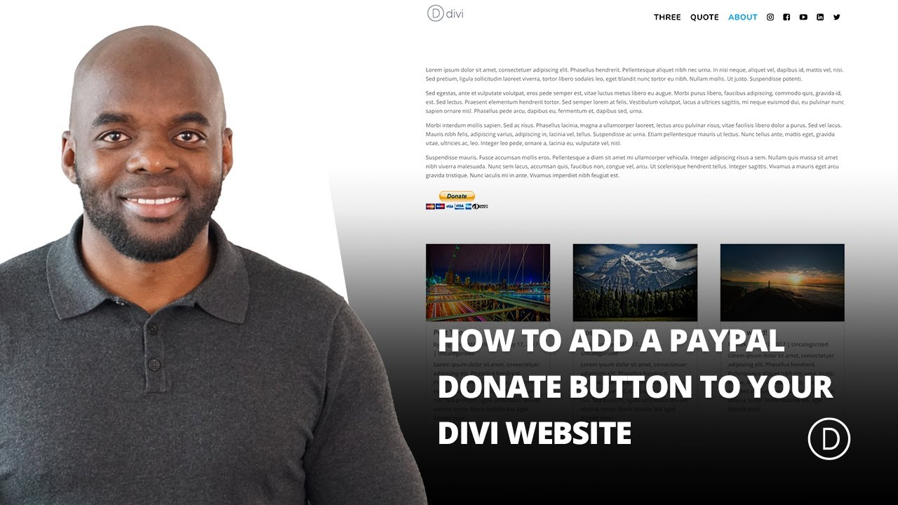 how to add a paypal donate button to your divi website youtube