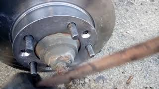 Замена тормозных дисков на соболе