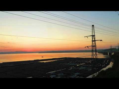 Вид из окна поезда - река Чусовая (Пермский край)