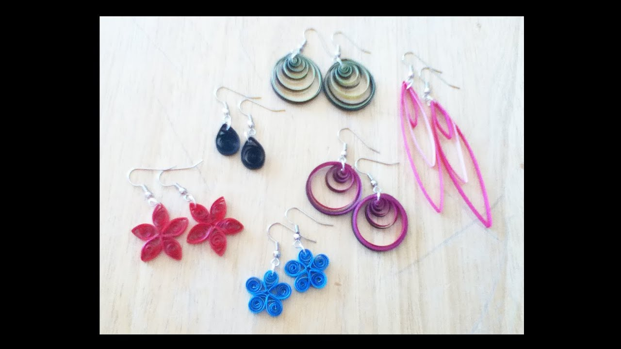 Earrings Making Tutorials Handicrafts At Home