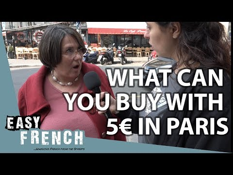 What Can You Buy With 5 Euros In Paris? | Easy French 79