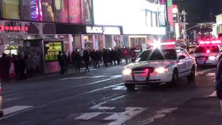 New York City Police Department Hercules Unit in Times Square