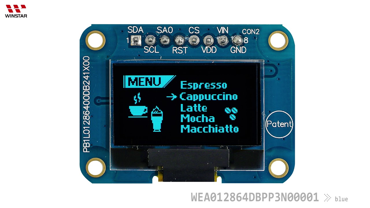 12864 OLED, SSD1306 OLED Display Module 12864, OLED 128x64