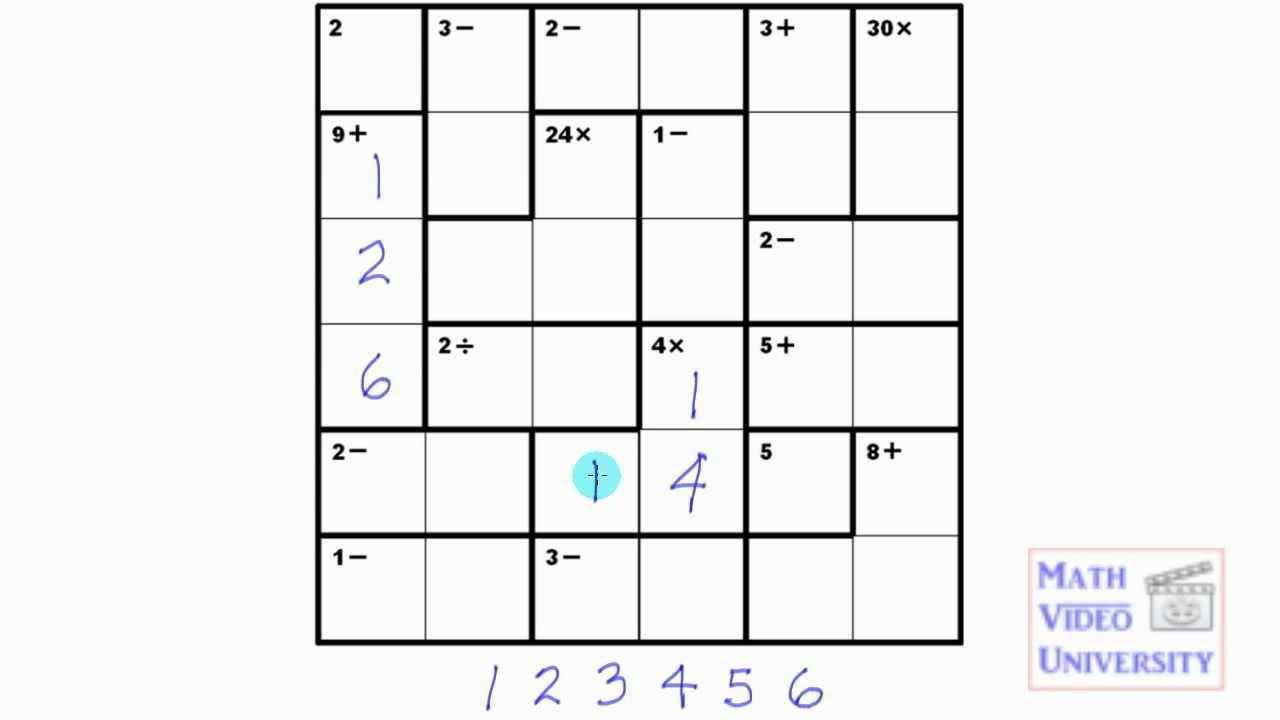 picture relating to Kenken Printable named Legal guidelines and cause of our absolutely free printable MathDoku puzzles