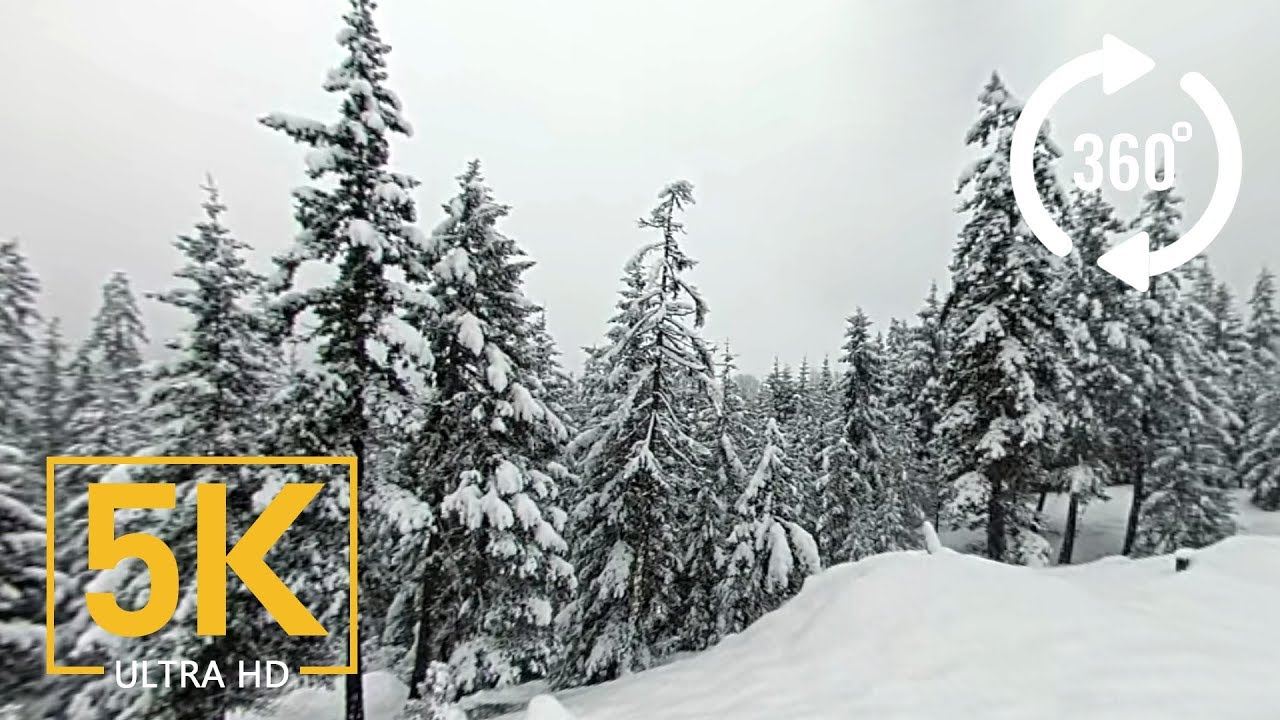 Cle Elum Lake Winter Wonderland (5K 360° Video)
