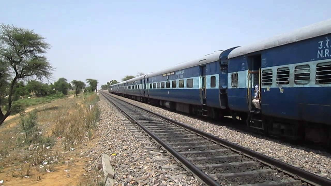 14311 Ala Hazrat Express (via Ahmedabad) try to cover its lost time   skips  Tajnagar station. e8a1637ff33
