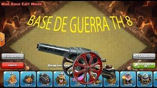 Clash of Clans Español | Base de Guerra ayuntamiento nivel 8