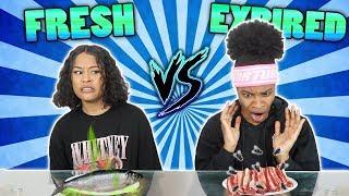 FRESH VS EXPIRED FOOD CHALLENGE 🤢