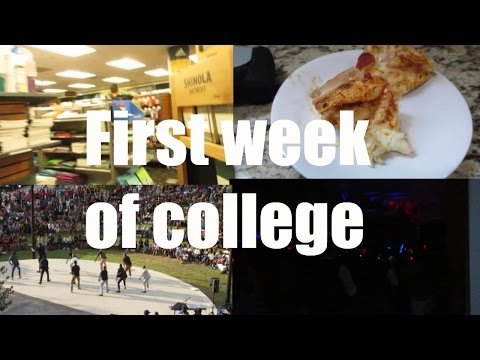 College Vlog:First week of College! ( Parties, Greek life, C